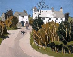 "lawrenceleemagnuson: ""Kyffin Williams (UK, Wales 1918-2006) Farm, Llanddona (c.1958) oil on canvas 51.8 x 62 cm """