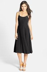 Frenchi® Lace-Up Back Midi Dress (Juniors)