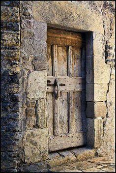 ** Wow, this door looks so old.