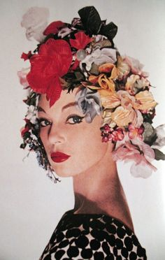 Fancy floral head piece.