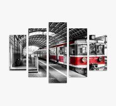Train Photographic Art Print Multi-Piece Image on Canvas Brayden Studio Painting Prints, Canvas Prints, Art Prints, Framed Wall Art, Home Deco, Decorating Your Home, Modern, Colours, Train