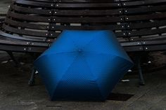 Blue Umbrella In Park At Porto Antico