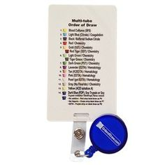 Remember the order of draw with badges, bracelets and other phlebotomist gifts