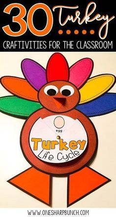 Easy DIY turkey crafts for your classroom, including FREE turkey activities, turkey headband, pattern block turkey, handprint turkey and many more Thanksgiving crafts and activities for kids! You won�t want to miss the adorable popsicle stick turkey!