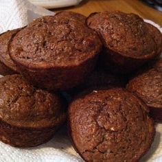 Chocolate Banana Protein Muffins:  3 ripe mashed bananas  2 scoops optimum nutrition double rich chocolate whey protein  1 tbsp unsweetened cocoa  1 ex large egg  2 egg whites  1/3 cup whole wheat flour  1/3 cup oat flour (oats blended in a food processor until flour consistency)  1/2 tsp baking powder  1/4 tsp baking soda  Makes 9 muffins. Bake at 375 for 10-15min