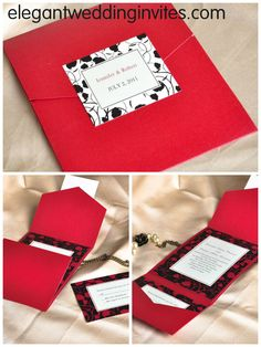 pocket wedding invitations- I could totally make these but of course in a different color