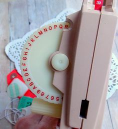Vintage DYMO Label Maker / Daily Planner by vintagescrapshop