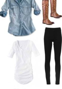 Cute fall outfit... Looks like new boots are a must