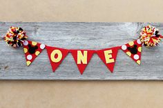 Mickey Mouse 1st Birthday Highchair Banner - Cake Smash Banner - Photo Prop on Etsy, $20.00