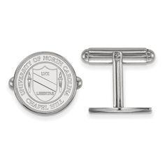Sterling Silver LogoArt University of North Carolina Crest Cuff Link