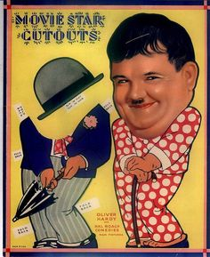 Old Hollywood paper dolls: Oliver Hardy #Ollio #recortable #scissorwork #papertoy- Carefully selected by GORGONIA www.gorgonia.it