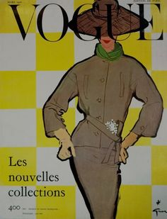 Vogue cover by Rene Gruau 1956