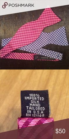 """Ted Baker Bow Ties - 2 pack Two Ted Baker Bow ties // each 15"""" L // 100% imported silk // brand new, never worn // Great deal Ted Baker Accessories Ties"""