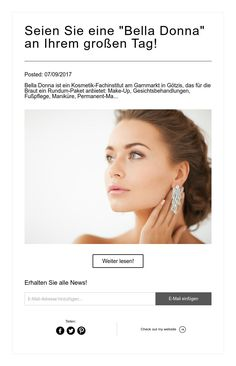 "Seien Sie eine ""Bella Donna"" an Ihrem großen Tag! Make Up, Wedding Ideas, Wedding Bride, Mariage, Makeup, Make Up Dupes, Maquiagem"