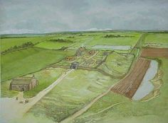 Bishop Middleham Castle and Park from the North in 1300