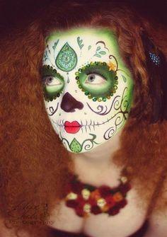 Hope Shots Photography Artist Unique Irish Model Sabra H. Sugar Skull Face painting