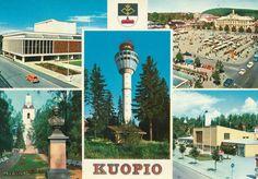 Postcard Kuopio, Finland 1966
