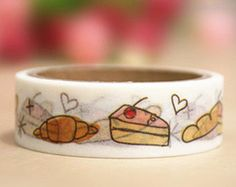Cakes and Pastries Washi Tape (1 pc) Korean Stationery Masking Tape Trim Tape S0192