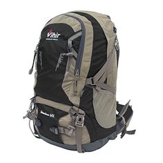 Vihir Nylon 40L Outdoors Travel Backpack Black >>> You can get more details by clicking on the image. Amazon Affiliate Program's Ads.