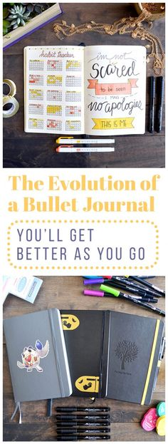 When you first begin your bullet journal, you might be frustrated or disappointed that it isn't super effective or beautiful yet. I totally get it, I've been there! Let me walk you through the evolution of a bullet journal from the beginning of my journey. Trust me, it gets better. via @LittleCoffeeFox