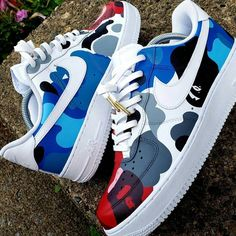 Custom Painted Shoes, Custom Shoes, Sneaker Store, Reflective Shoes, Nike Shoes Air Force, Jordan Shoes Girls, Cute Sneakers, Aesthetic Shoes, Fresh Shoes