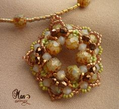 Stitch Pattern: Verita pendant, DIY specifications, Patterns, instructions, this pendant will show really well When used to add special bead ...