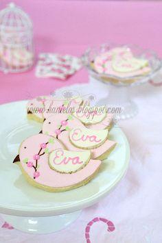 Flower Bird Cookies