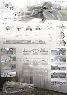 Beautiful Page layout Interior Design Presentation, Architecture Presentation Board, Presentation Layout, Project Presentation, Architecture Panel, Architecture Drawings, Concept Architecture, Architecture Design, Cv Photoshop