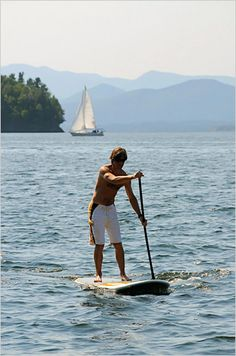 Something new to try this summer...paddle-boarding.