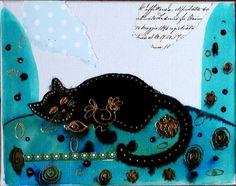 Mini Tableau turquoise Peinture Toile Contemporaine Acrylique déco enfant Cadeau Noël : Décoration pour enfants par cyane