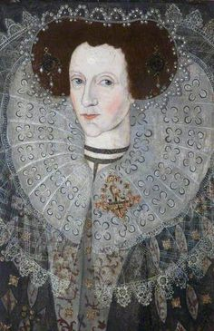 Anne Carew, Lady Apsley, née Anne Bell, Daughter of Sir Peter Carew, and Second Wife of Sir Allen Apsley by British (English) School: Date painted: 1606 Oil on panel, 69 x 52 cm: Collection: National Trust: Buckland Abbey Yelverton, Devon, England, PL20 6EY