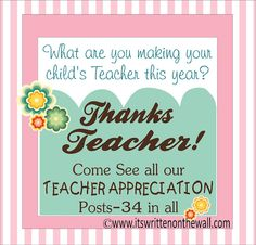 Teacher Appreciation Gift Ideas....End of Year Gifts and Holiday gifts