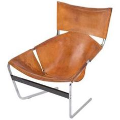 Pierre Paulin Artifort F444 Artifort in Brown Leather Chair, 1965