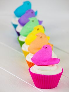Add a Peep on top of your cupcakes to fit any holiday!