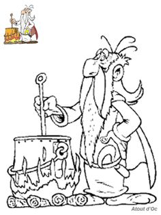 bd asterix coloriage panoramix