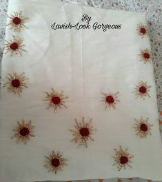 Embroidery On Kurtis, Hand Embroidery Dress, Kurti Embroidery Design, Basic Embroidery Stitches, Embroidery Neck Designs, Embroidery Works, Embroidery Saree, Simple Embroidery, Bead Embroidery Jewelry