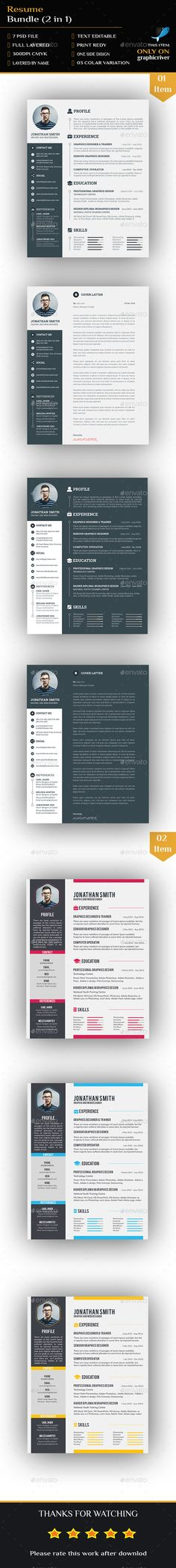 Resume Templates Bundle - 2 in1