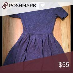 XS LULAROE AMELIA Purple textured Amelia! Worn once to a meeting. Awesome color! LuLaRoe Dresses Midi