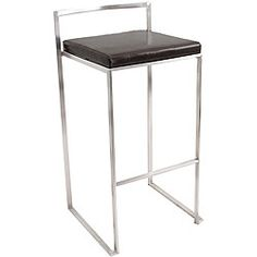 Shop Lumisource Fuji Stacker Bar Stool (Set of at Lowe's Canada. Find our selection of bar stools at the lowest price guaranteed with price match. Black Bar Stools, Leather Bar Stools, Metal Bar Stools, 30 Bar Stools, Modern Bar Stools, Counter Stools, Kitchen Stools, Bar Counter, Steel Frame Construction