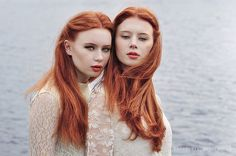 red headed twins (so hard to find one blonde and one redhead)