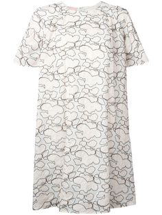 GIAMBA Abstract Embroidery T-Shirt Dress. #giamba #cloth #dress
