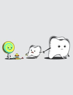 Stay away from tooth damaging candy! #dentist #dentalhumor