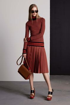 Michael Kors Collection Resort 2016 - Collection - Gallery - Style.com red pleated skirt sweater