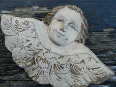wood folkart winged angel......      From SAGEOLIVE