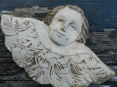 wood folkart winged angel......      From SAGEOLIVE