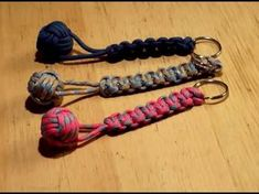 Monkey fist and cobra paracord keyring without a gig - YouTube