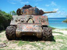 Abandoned tank in Culebra Island