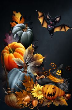 Halloween Artwork, Halloween Prints, Halloween Pictures, Halloween Cards, Holidays Halloween, Happy Halloween, Halloween Porch, Vintage Halloween Decorations, Halloween Wallpaper Iphone
