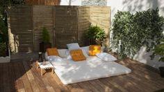 Construcción de un tipi - Bricomanía Ikea Exterior, Wooden Screen, Outdoor Tables, Outdoor Decor, Gardening Tips, My House, Dining Table, Yard, Patio