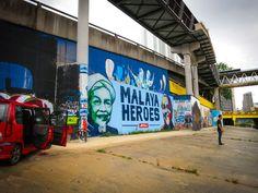 Graffiti Street Art along Klang River - Kuala Lumpur